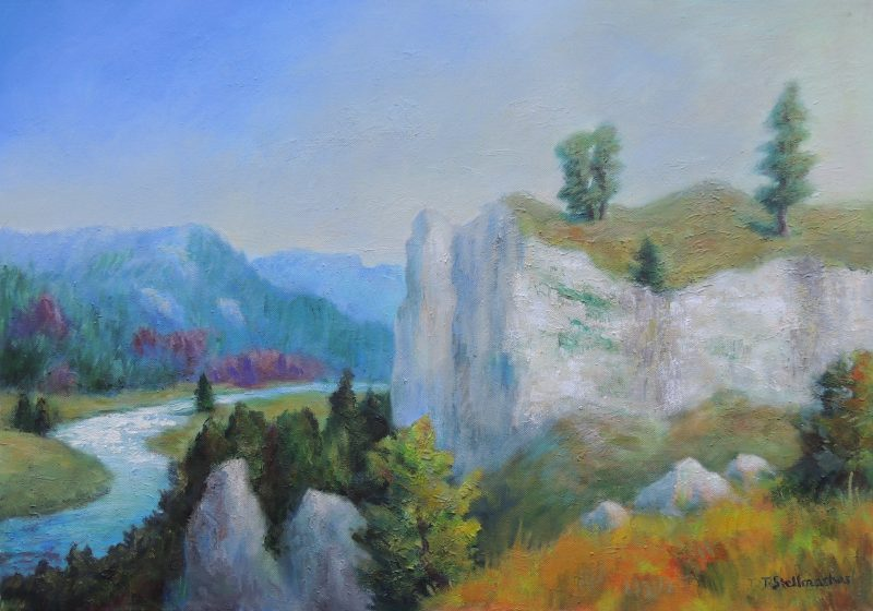 Donautal bei Kloster Beuron 50x70 cm Acrylbild auf Leinwand