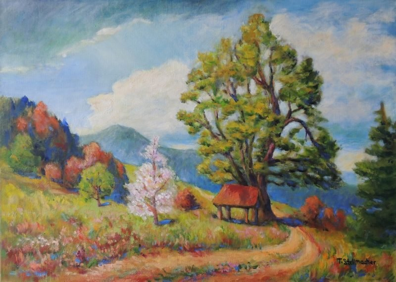 Fruehling im Suedschwarzwald Acryl 50x70 cm