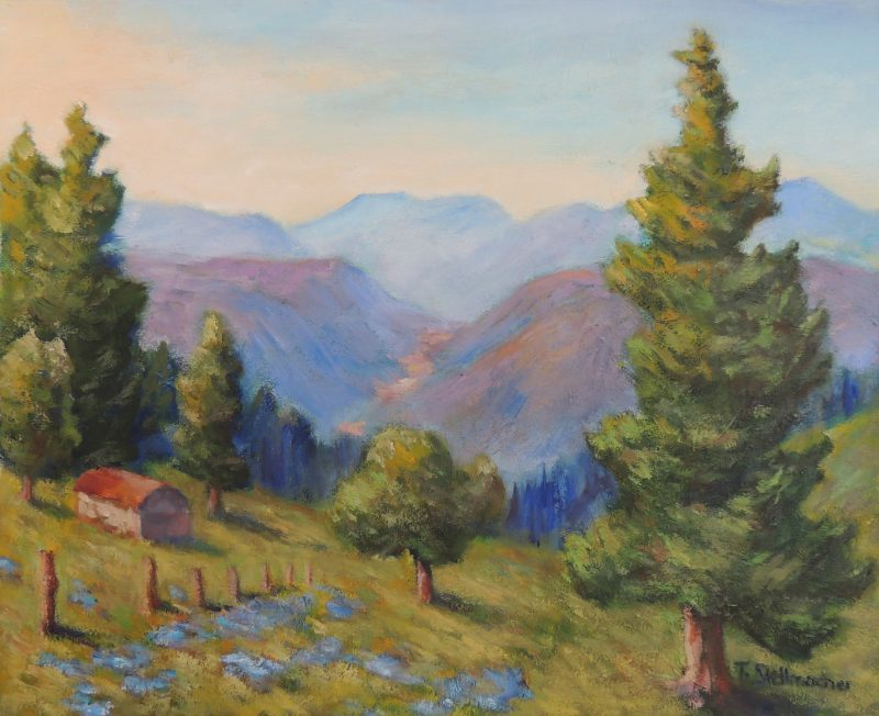Vom Dinkelberg zum Schwarzwald Acryl auf Leinwand 40x50cm