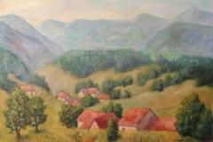 Suedschwarzwald im Spaetsommer Acryl auf Leinwand 50x70 cm