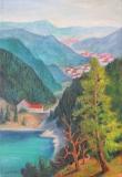 Bergsee und Tal in den Vogesen