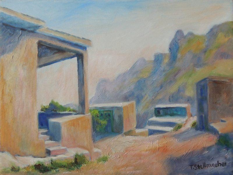Verlassenes Bergdorf auf Kreta