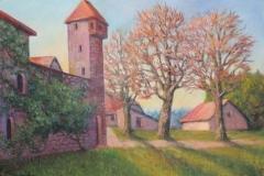 Storchenturm mit Stadtmauer in Rheinfelden
