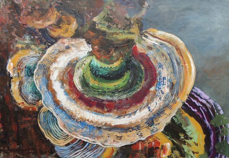 Baumpilz, Acrylbild 50x70 cm auf Leinwand