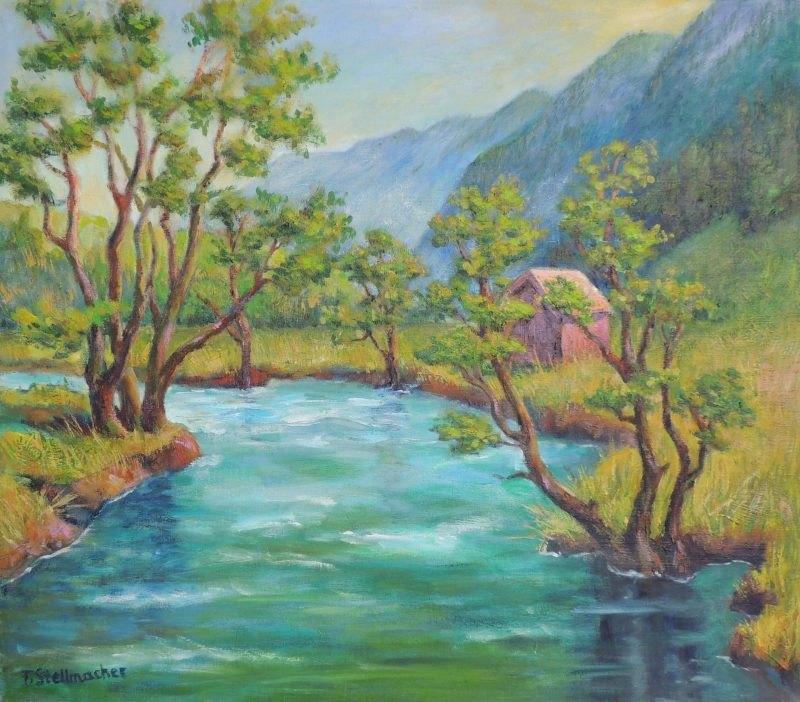 Frühling im Kleinarltal, Acryl auf Leinwand, 50x60 cm