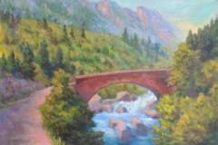 Brücke über den Sturzbach