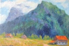 Bergschulter über Talniederung bei Engelberg