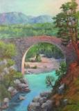 Alte Brücke in den östlichen Pyrenäen bei Sardenes (Olot)