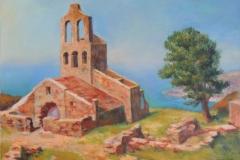 Kirchenruine an der Costa Brava