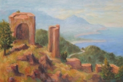 Ruine an der Costa Brava