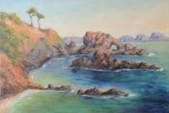 Wilde Kueste bei Paguera auf Mallorca Acryl auf Leinwand 40x60 cm