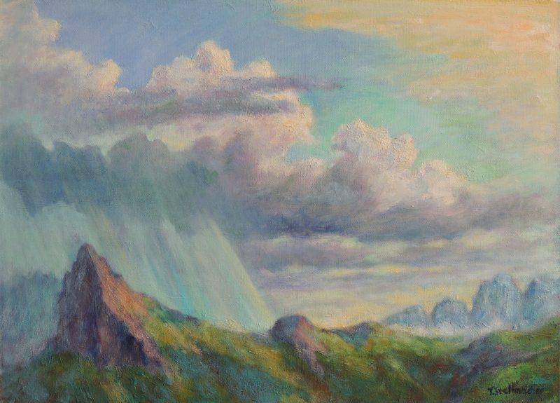 Dolomiten nach Schauer Acryl auf Leinwand 50x70cm