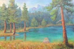 Lago Ghedina in den Dolomiten
