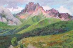 Licht und Schatten in den Dolomiten zwischen Langkofel und Seiser Alm