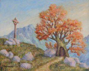 Baumheiliger Acryl auf Leinwand 40x50cm