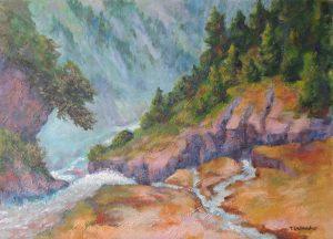 Bergschlund bei Gastein Acryl auf Leinwand 50x70 cm