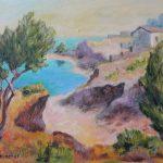 Bucht auf Kreta Acryl auf Leinwand 30x40 cm