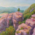 Buntsandsteinfelsen bei Blens Acryl auf Leinwand 40x60 cm