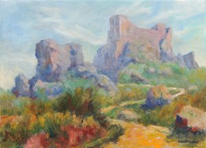Castel de Gran Rey bei Pollenca auf Mallorca, 50x70 cm, Oel auf Leinwand