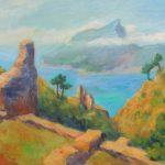 Blick auf die Insel Dragonera Acryl auf Leinwand 50x70 cm