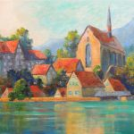 Beyenburg Acryl auf Leinwand 50x70 cm