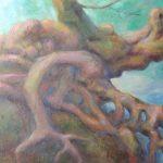 Knorrige Baumwurzeln Acryl auf Leinwand 50x70 cm