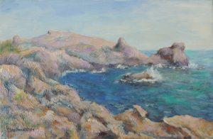 Rauhe Kueste auf Kreta Acryl 40x60cm