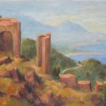 Ruine an der Costa Brava Acryl auf Leinwand 40x70cm