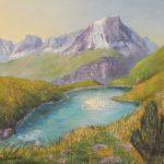 See im Wallis Acryl auf Leinwand 40x50cm