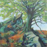 Spriessender Baum Oel 550x745