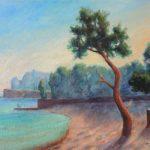 Strand von Paguera Acryl auf Leinwand 50x70 cm