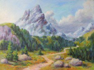 In den Engadiner Dolomiten, Acryl auf Leinwand 50x70 cm