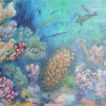 Unterwasserfantasie 1 Acryl auf Leinwand 55x70cm