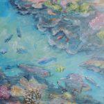 Unterwasserfantasie 2 Acryl auf Leinwand 50x70 cm