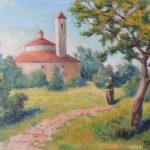 Spanisches Franziskanerkloster, Acryl auf Leinwand, 50x70 cm