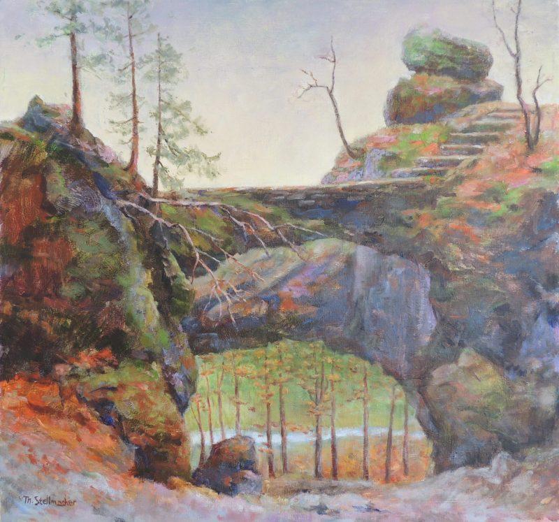 Riesenhöhle im Wiesenttal Acryl auf Leinwand 70x74 cm
