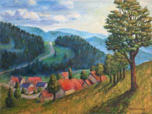 Kaltenbach im Südschwarzwald, 60x80cm, Acryl auf Leinwand